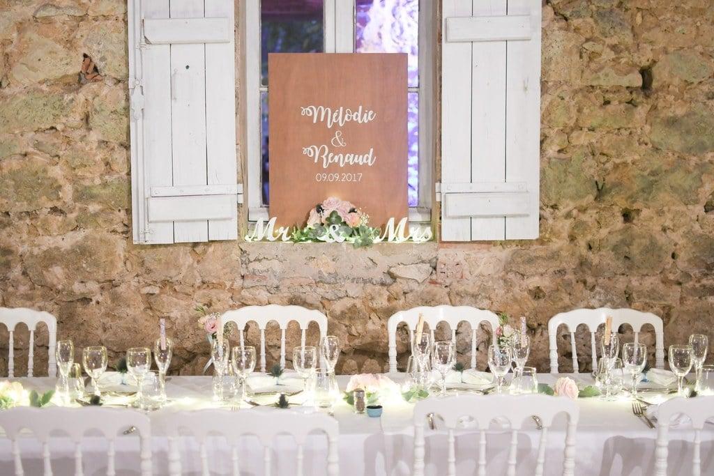 décoration de mariage champêtre rompantique bohème