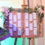plan de table champêtre romantique