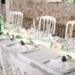 décoration de table d'honneur mariage