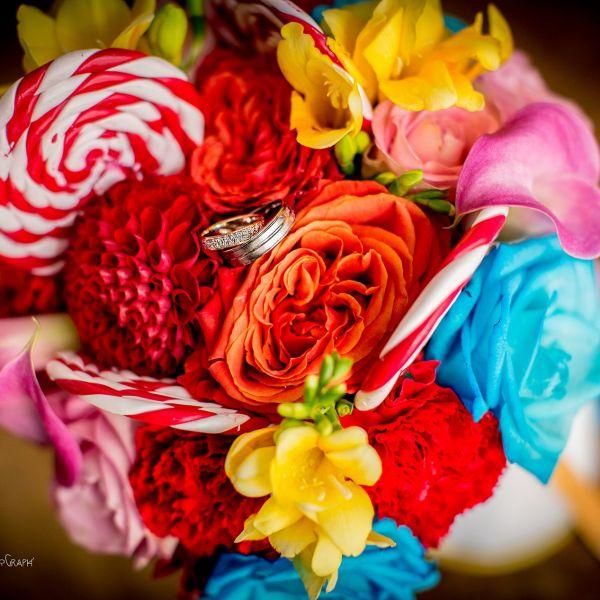 bouquet de mariee theme fete foraine