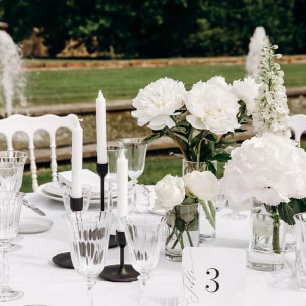 Mariage au Chateau Clair de Lune, à Biarritz - Scénographie créée sur Mesure par Pastel Créatif - Décoration de table et centres de table